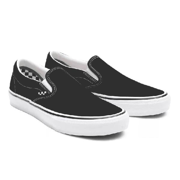 Vans Skate Slip-On Skate Shoes - Black/White