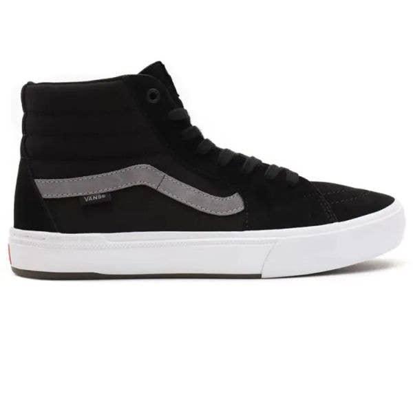 Vans BMX Sk8-Hi High Top Skate Shoes - Black/Grey/White