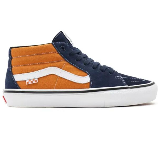 Vans Skate Grosso Mid Skate Shoes - Navy/Orange