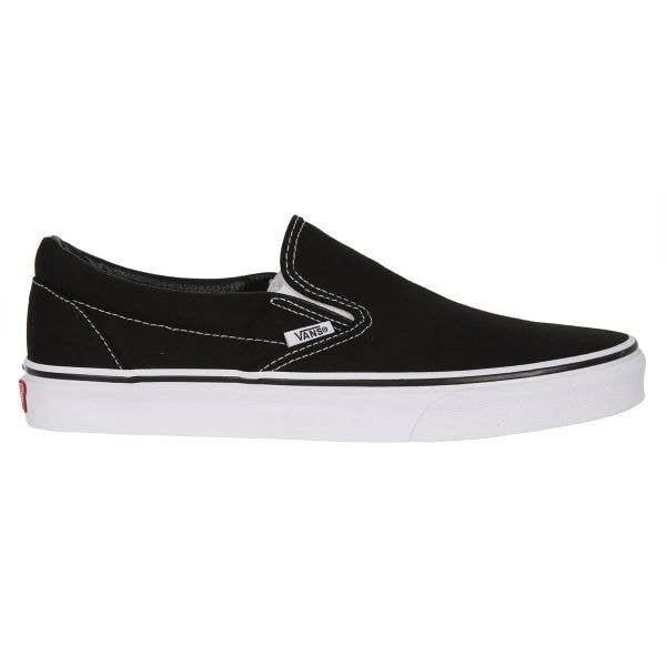 Vans Classic Slip-On Skate Shoes - Black/White