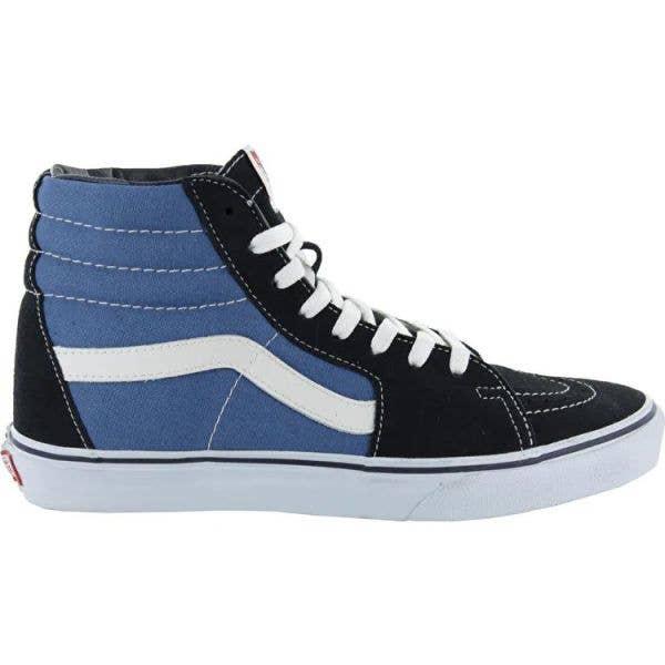 Vans Sk8-Hi High Top Skate Shoes - Navy/White