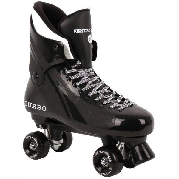 Ventro Pro Turbo Quad Roller Skates - Black/Black