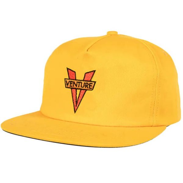 Venture Heritage Snapback Cap - Gold