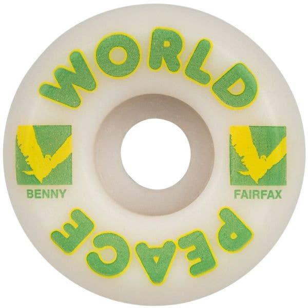 Wayward Pro Funnel Benny Fairfax Skateboard Wheels - White/Green 54mm
