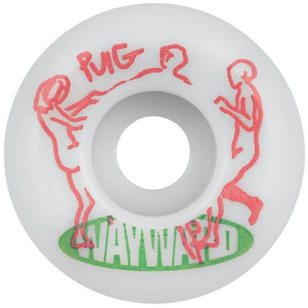 Wayward Pro Funnel Lucas Puig Skateboard Wheels - White/Green 52mm