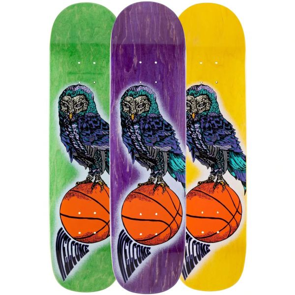 Welcome Hooter Shooter on Bunyip Skateboard Deck 8''