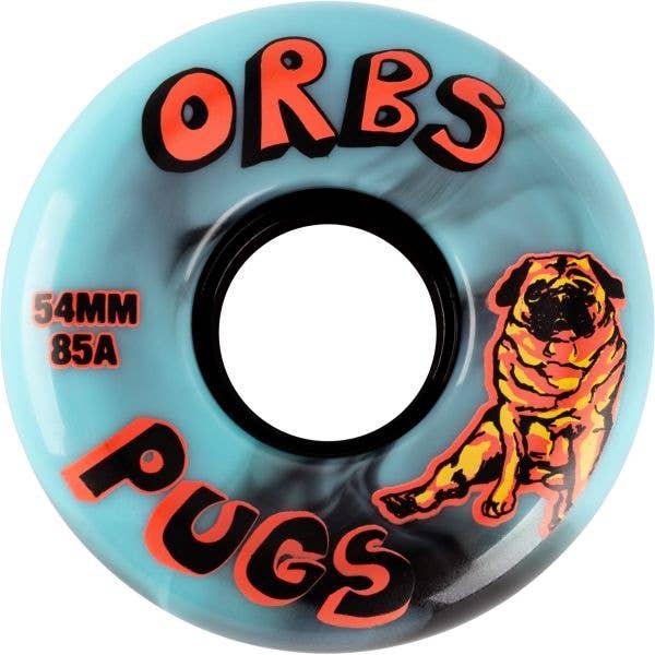 Welcome Orbs Pugs Skateboard Wheels - Blue/Blue 54mm