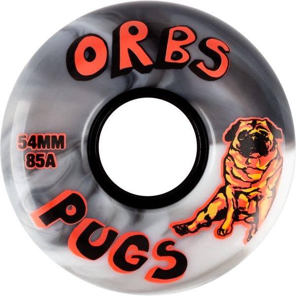 Welcome Orbs Pugs Skateboard Wheels - Black/White Split 54mm