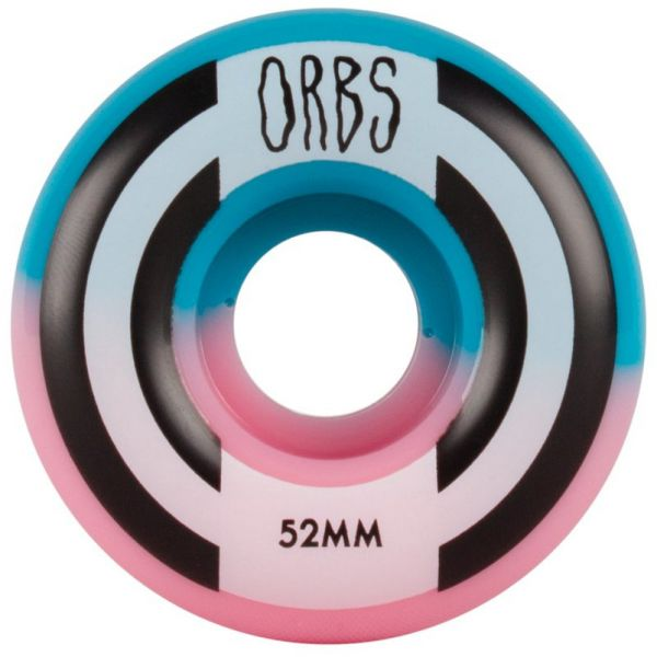 Welcome Apparitions - Round - Splits Skateboard Wheels 52mm - Pink/Blue