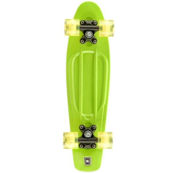 Xootz PP LED Complete Cruiser Skateboard 22'' - Green