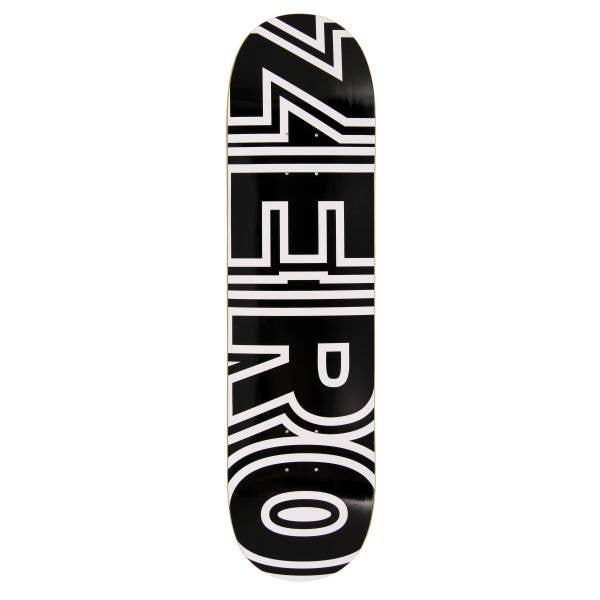 Zero Bold Skateboard Deck - Black/White 7.75''