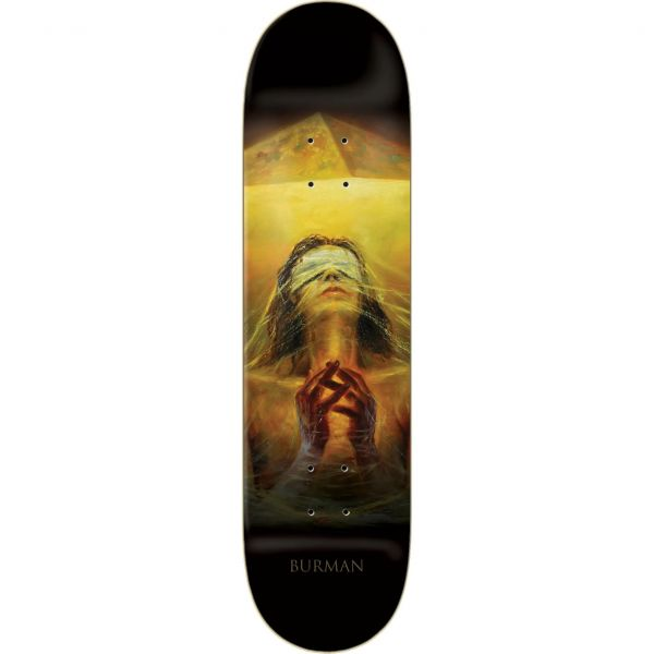 Zero Burman Light and Dark Skateboard Deck - Black 8.25''