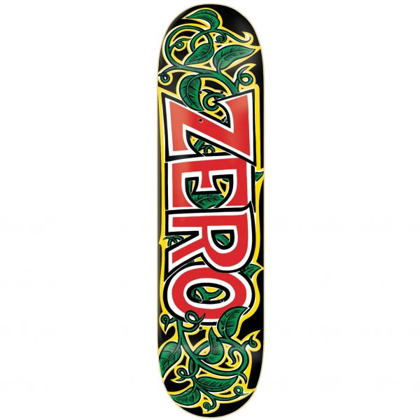 Zero Vines Skateboard Deck - Black/Red/Green/White 8.25''