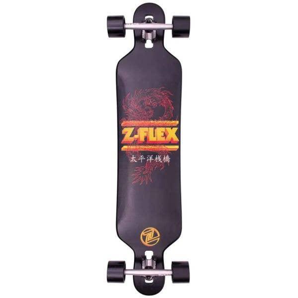 Z-Flex Dragon Drop Through Complete Longboard - Black 41''