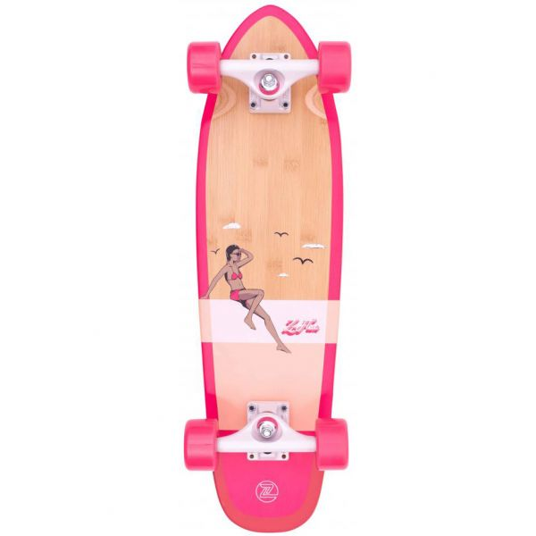 Z-Flex Bamboo Complete Cruiser - Pink 27''