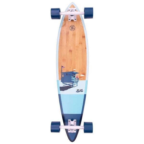 Z-Flex Bamboo Pintail Complete Longboard - Blue 38''