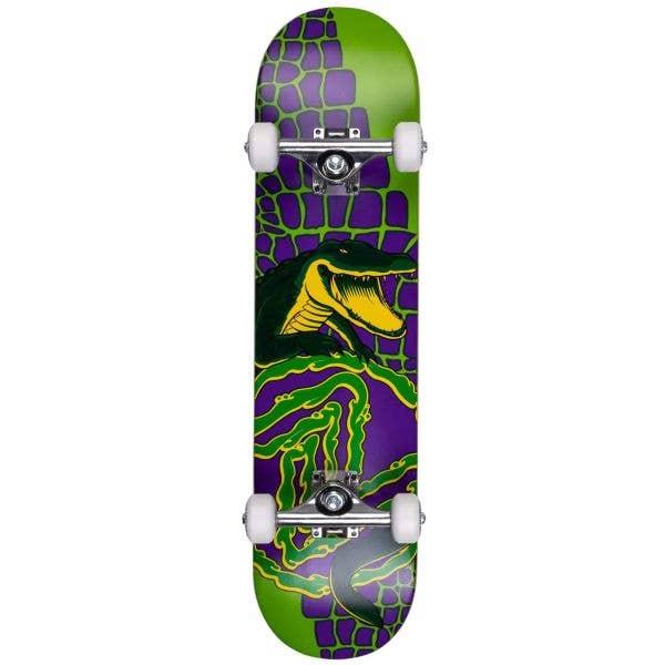 Z-Flex Mini Gator Complete Skateboard - Green/Purple 7.25''