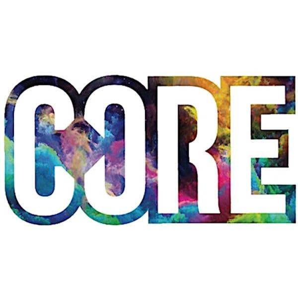 CORE Logo Sticker Neon Galaxy