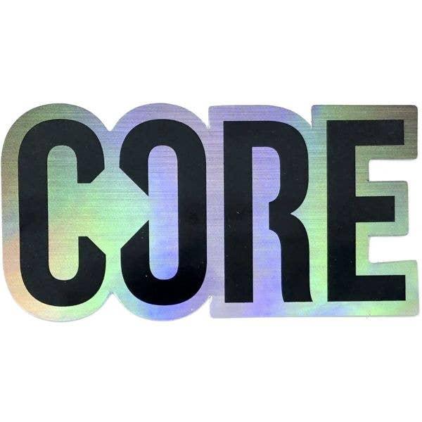 CORE Logo Sticker - Holographic Black