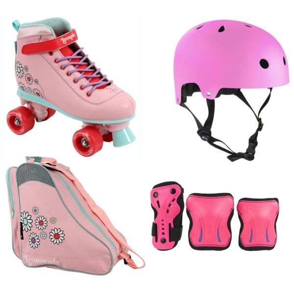 LMNADE Vibe Quad Roller Skates Deluxe Bundle