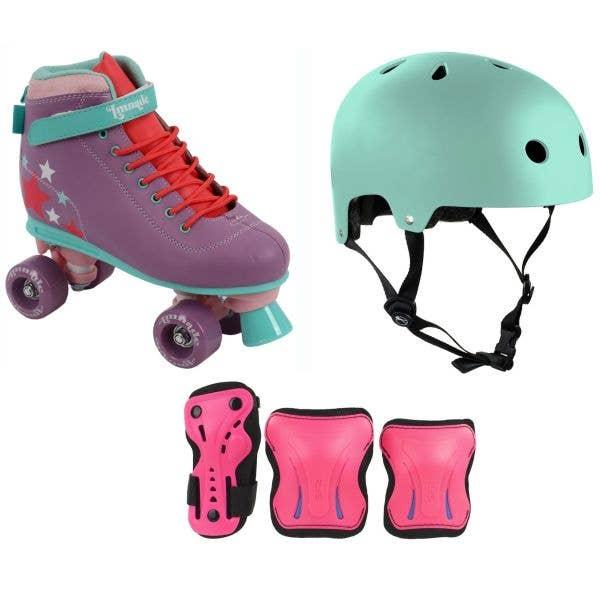 LMNADE Vibe Quad Roller Skates Bundle