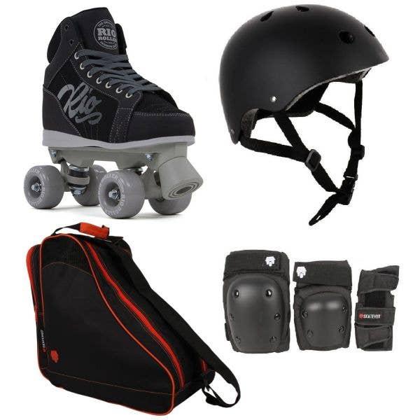 Rio Roller Lumina Quad Roller Skates Deluxe Bundle