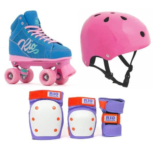 Rio Roller Lumina Quad Roller Skates Bundle