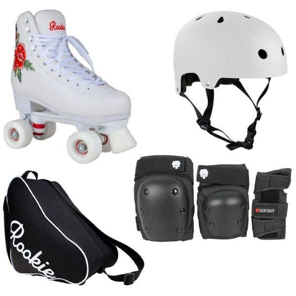 Rookie Rosa Quad Roller Skates Deluxe Bundle