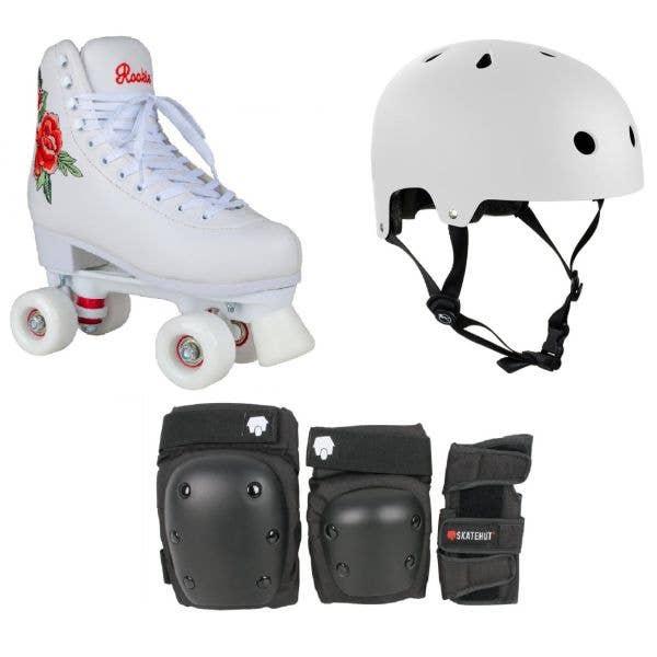 Rookie Rosa Quad Roller Skates Bundle