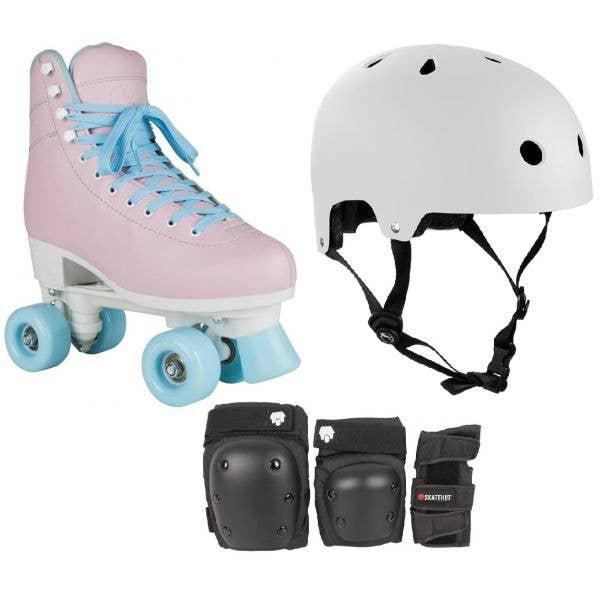 Rookie Bubblegum Quad Roller Skates Bundle